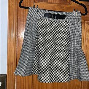 Zara Pleated Houndstooth Skirt